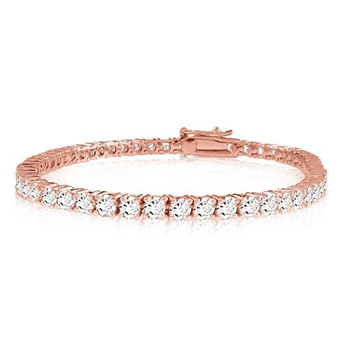 3 Carat Classic Diamond Tennis Bracelet 14K Rose Gold Value Collection