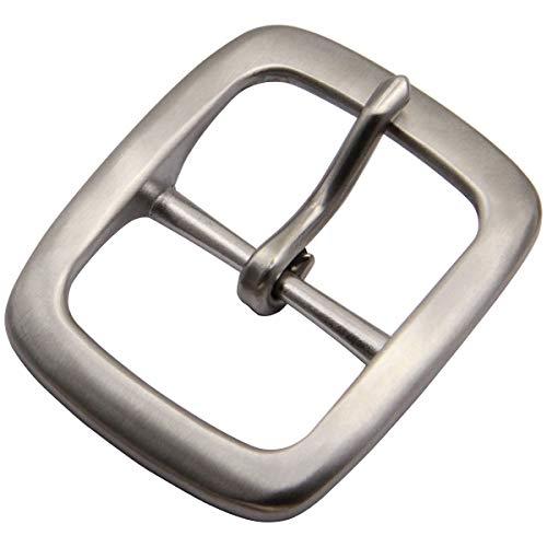 Men's Center bar Belt Buckle Stainless Steel Belt Buckle Single Prong Belt Buckle 1 1/2