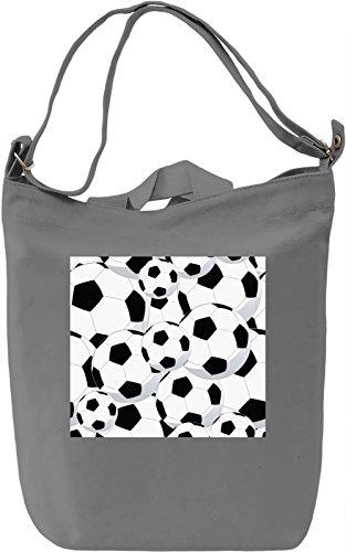 Football Pattern Borsa Giornaliera Canvas Canvas Day Bag| 100% Premium Cotton Canvas| DTG Printing|