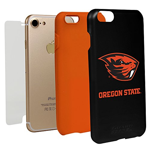 id Case for iPhone 7/8 and Guard Glass Screen Protector (Oregon State Beavers) (Case Oregon State Beavers)