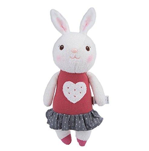 35cm Genuine Metoo Toys children Tiramisu Rabbits Cute Stuffed cartoon Animals Design Plush Toy Doll Birthday/Xmas/New year Gifts For Girls (Type C)