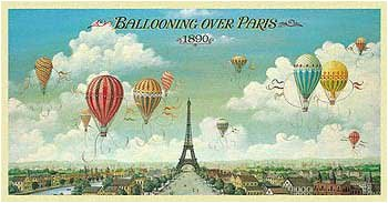 Ballooning Over Paris Poster Lane product image