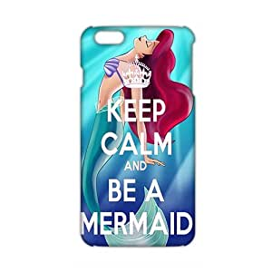 Angl 3D Case Cover Cartoon Cute Little Mermaid Phone Case for iPhone6 plus