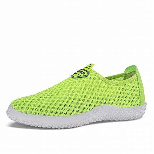Gris Oudan Respirantes En 44 coloré De Et Chaussures Simples Mesh Simples Vert Sport Taille XYFBrOFq