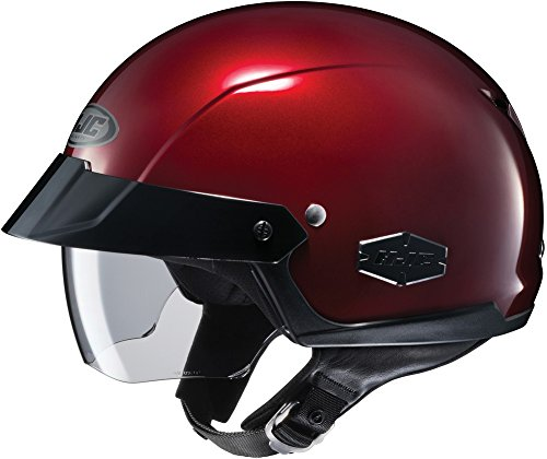 HJC IS-Cruiser Half-Shell Motorcycle Riding Helmet (Wine, Large)