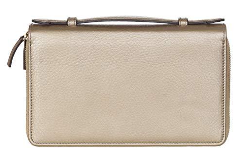 c809a528b793 Gucci Metallic Leather GG Soho Travel Wallet Organizer Briefcase