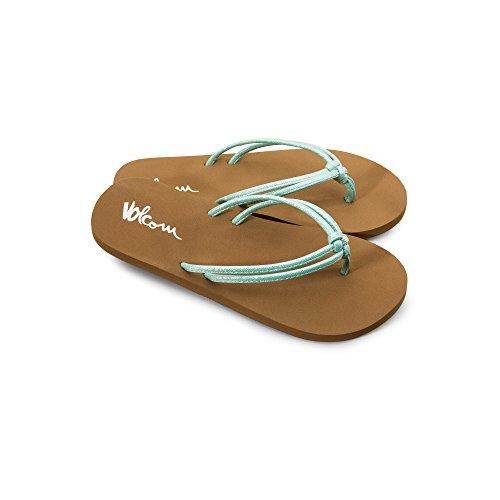 Volcom Girls' Forever and Ever Youth Sandal Flip Flop Misty Blue