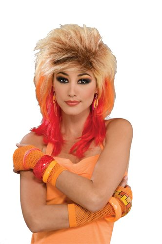 Forum Novelties Women's 80's To The Maxx Sindee Costume Wig, Multi, One Size (The 80s Outfits)