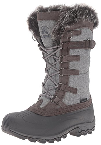 Kamik Women's Snowvalley Snow Boot, Charcoal/Brown, 10 M US -