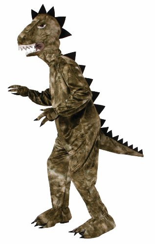Forum Novelties Men's Dinosaur Plush Mascot Costume, Green, One Size -