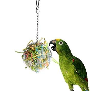 Juguetes para pájaros - Jaula colgante para pájaros con cuerdas de ...