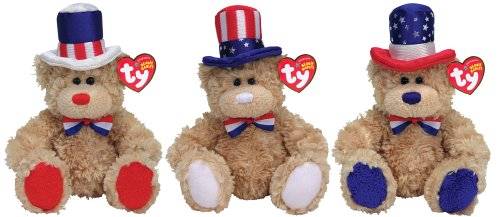 Ty Independence - Fourth of July Bears (asst. of Three) (4th July Bear)