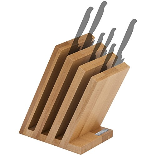 Artelegno 42 Venezia Magnetic Knife Block, Solid Beech Wood Natural Lacquer - Tray Beechwood Cutlery