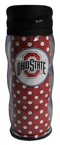 Tumbler Curve (Whirley NCAA Ohio State Buckeyes 20oz Polka Dot Curve Tumbler)