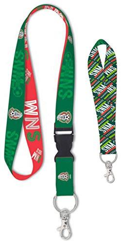 WinCraft Bundle 2 Items: Mexico National Football Team 1 Premium Lanyard Id Holder and 1 Key Strap Key Chain