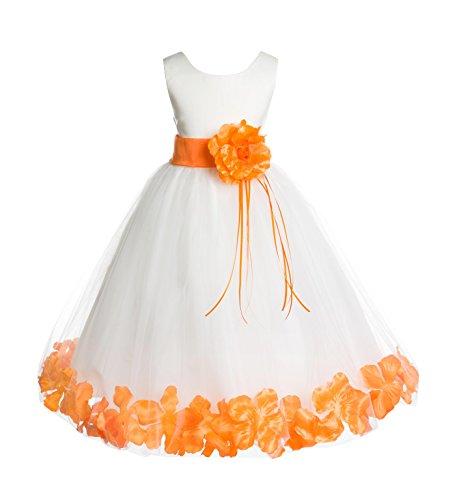ekidsbridal Rose Petals Ivory Flower Girl Dress Birthday Girl Dresses Reception Dress 007ss 4