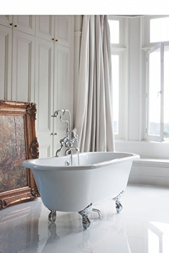 Casa Padrino Nouveau bath freestanding 1500mm BWin White - Freestanding Retro antique