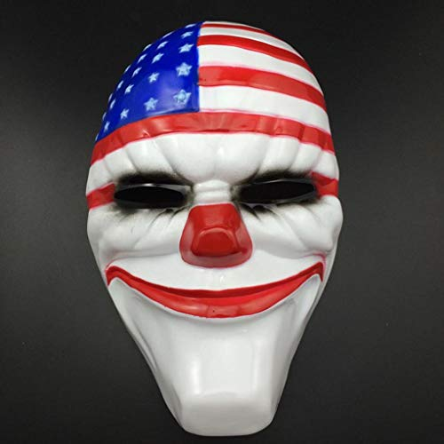 PVC Scary Clown Mask Payday 2 Halloween Mask For Antifaz Party Mascara ()