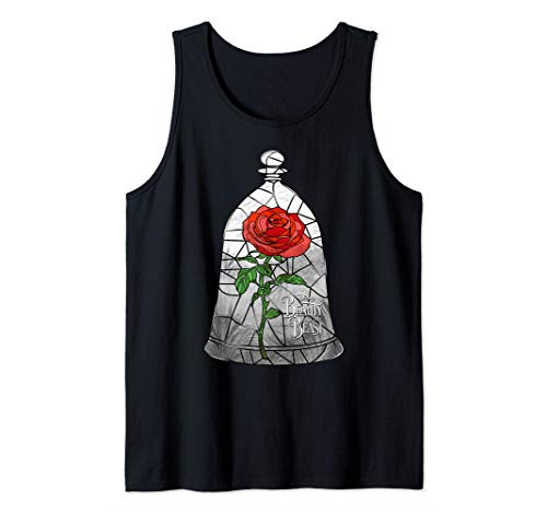 Disney Beauty And The Beast Stained Glass Enchanted Rose Tank Top