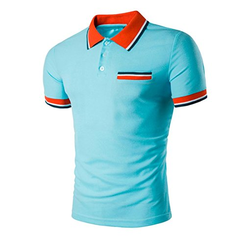 iLXHD Summer Mens Sport Short Sleeve Slim Fit Casual T Shirt Blouse Tops ()