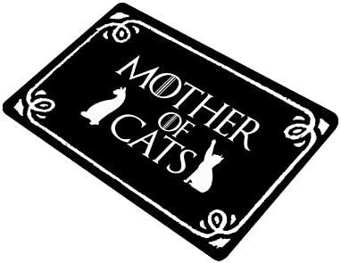 WECE Funny Mother of Cats with Kitten Shadow Silhouette Anti-Slip Indoor Outdoor Entrance Doormat Floor Mat Door Mat Rubber Backing, 23.6 L x 15.7 W , 3 16 Thickness