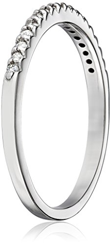 "14k White Gold and Diamond ""Stackable"" Band (1/6 cttw, H I Color, I1 I2 Clarity)"