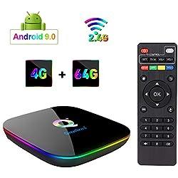 Greatlizard Android 9.0 Q Plus TV Box 4GB RAM 64GB ROM 4K HD