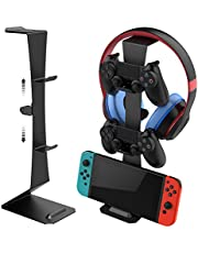Controller Holder, Game Controller Stand Holder & Headphone Stand Hook for Nintendo Switch, Switch lite, Xbox 360, Xbox one, Playstation PS4. Full Set of Joystick Organizer for Video Game Accessories