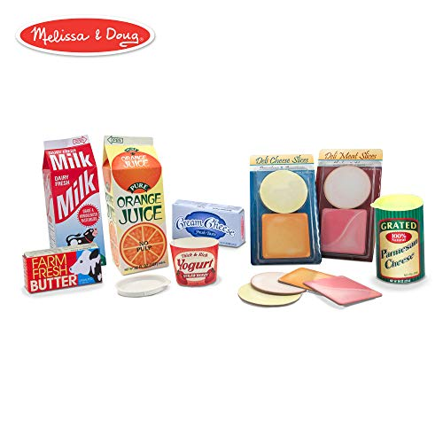 Melissa & Doug Let's Play House Fridge Fillers (Pretend Play Grocery Toys, 20 Pieces)