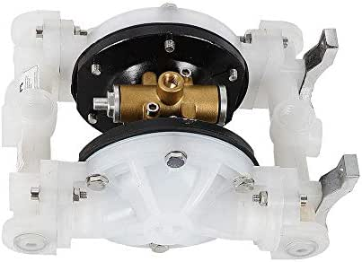 Diaphragm Pumps, Heavy Duty Air-Operated Double Diaphragm Pump QBY-15PP 1/2inch Outlet for Chemical Industrial Use USA Stock