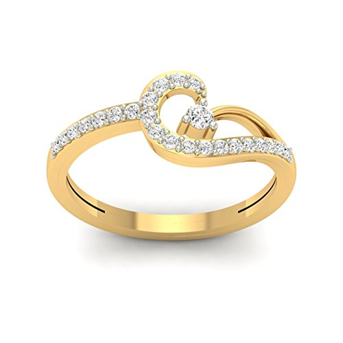 Or jaune 18 K 0,32 CT TW Round-cut-diamond (IJ | SI) en diamant