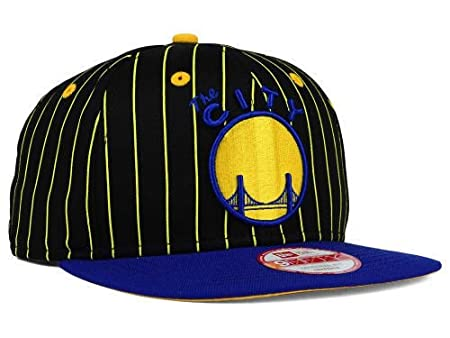 detailed look b0cb1 23e14 Amazon.com   Golden State Warriors New Era NBA Hardwood Classics Vintage  Pinstripe 9FIFTY Snapback Cap Hat   Sports   Outdoors