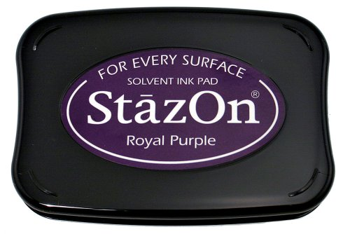 Tsukineko Full-Size StazOn Multi-Surface Inkpad, Royal Purple