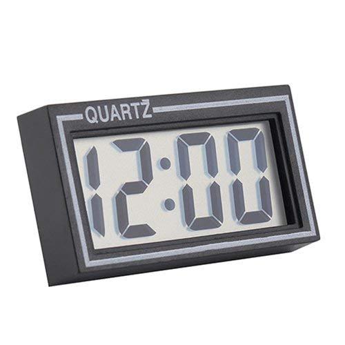 Tcplyn Premium Quality Clock | Digital LCD Screen Table Auto Car Dashboard Desk Date Time Calendar Small Clock