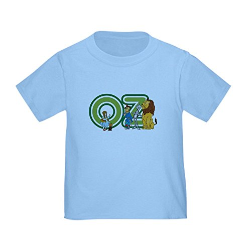 CafePress Vintage Wizard of Oz T-Shirt Cute Toddler T-Shirt, 100% Cotton Baby Blue