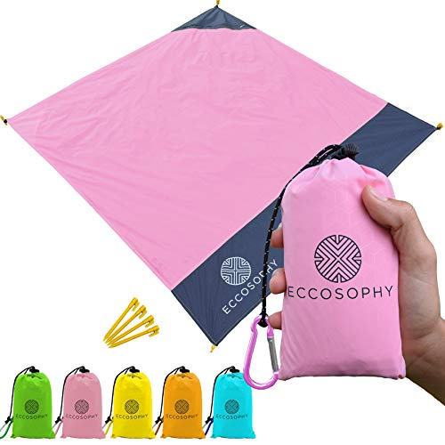 ECCOSOPHY Pocket Beach Blanket Lightweight