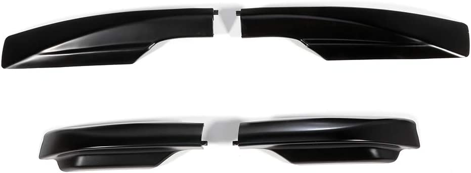 cciyu 4X Black Roof Rack Side Rails End Covers Shell Cap Replacement Fit for 2006-2012 Toyota RAV4 Sport Utility 4-Door