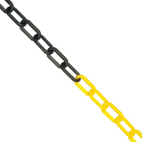 10m x 6mm Plastic Barrier Chain Link Safety Decorative Garden Fence Yellow /& Black
