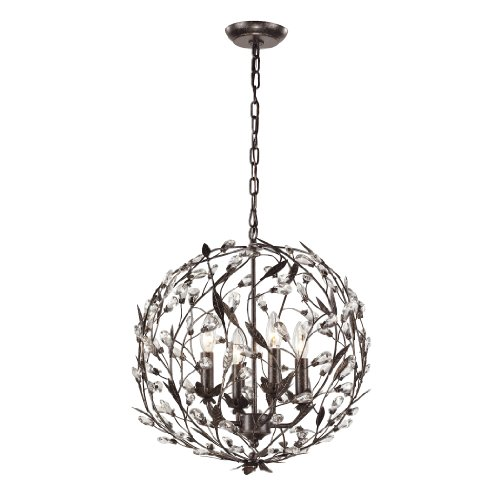 Circeo Collection 4 light pendant in Deep Rust (Circeo Collection)