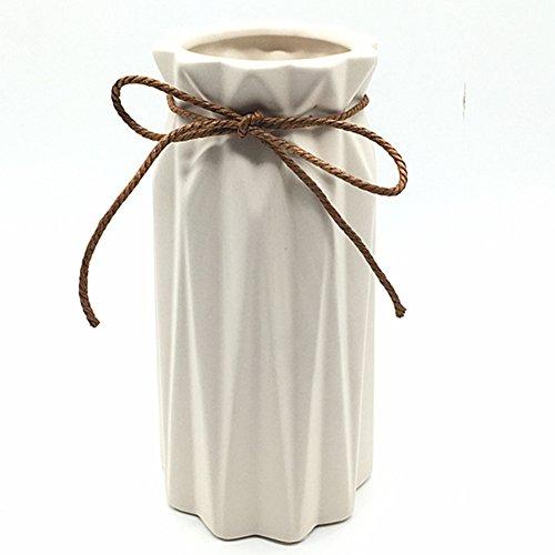 - Anding White Ceramic Vase - Elegant origami art design- Ideal Gift for Friends and Family, Wedding, Desktop Center Vase, A Perfect Home Decor Vase (LY096)