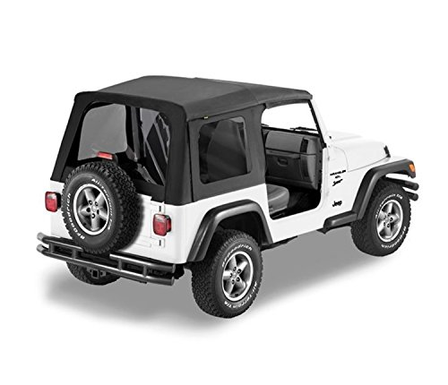 - Bestop 51180-15 Black Denim Replace-a-Top Soft Top Tinted Windows-No door skins included-No frame hardware included- 1997-2002 Jeep Wrangler