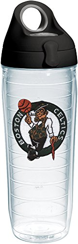 Tervis 1231043 NBA Boston Celtics Primary Logo Tumbler with Emblem and Black with Gray Lid 24oz Water Bottle, Clear by Tervis