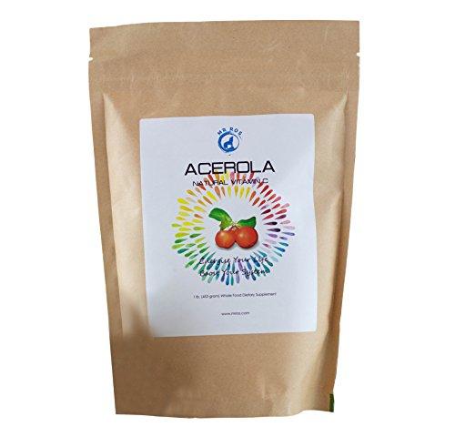 Natural Vitamin C Vitamins Acerola Powder-1 Lb (16 Oz-453 grams) by Mr Ros-100% Pure From Organic Origin