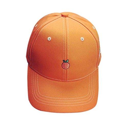 [OutTop Unisex Embroidery Fruit Baseball Cap Snapback Caps Hip Hop Hats (Orange)] (Fruit Hat Lady)