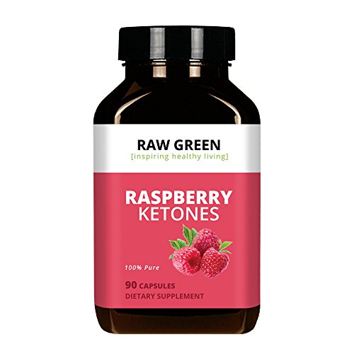 Raw Green Raspberry Ketones, 100% Pure Advanced Formula & Green Tea Extract for Weight Loss and Appetite Suppression, Resveratrol (90 Capsules), 100% Money Back Guarantee - Order Risk Free! by Raw Green Organics