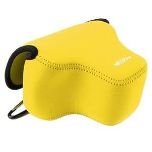 NEOpine Neopreno, Antigolpes Soft Case Funda Para Bolsa con Hook Canon SX60 Camera (Yellow)