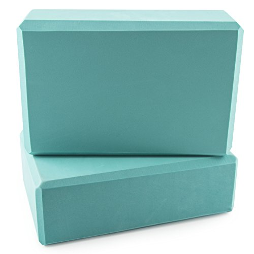 Peace Yoga Foam Exercise Blocks Turquoise [9