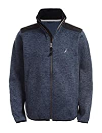 Nautica Boys Uniform Full-Zip Fleece Jacket Sweater