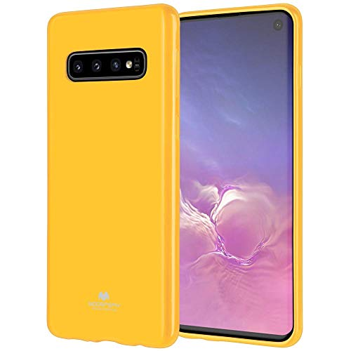 Thermoplastic Powder Coating - LEFANG Jelly Case Samsung Galaxy S10 Plus Case, [Soft Rainbow Shell] Pearl Powder and TPU Case [Anti-Slip/Anti-Fall] Cover (Galaxy S10Plus, Yellow)