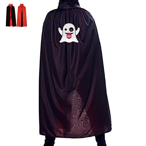 Halloween Ghost Emoji Children Adult Costume Wizard Witch Cloak Robe Cape